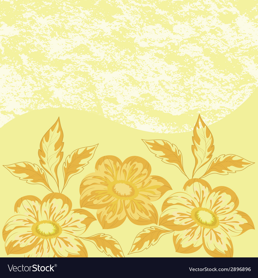 Flowers dahlia and abstract pattern vector | Price: 1 Credit (USD $1)