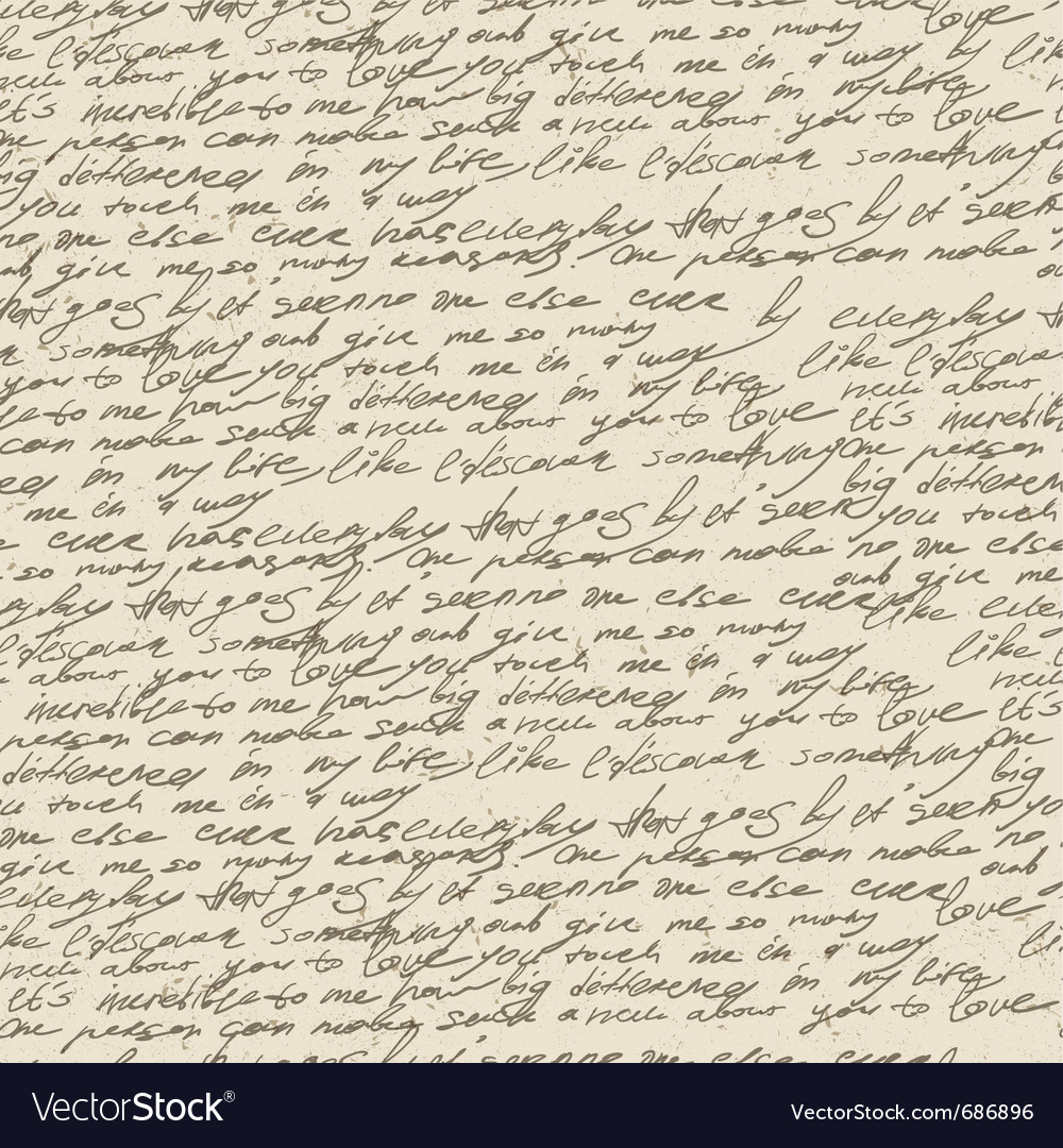 Handwriting background vector | Price: 1 Credit (USD $1)