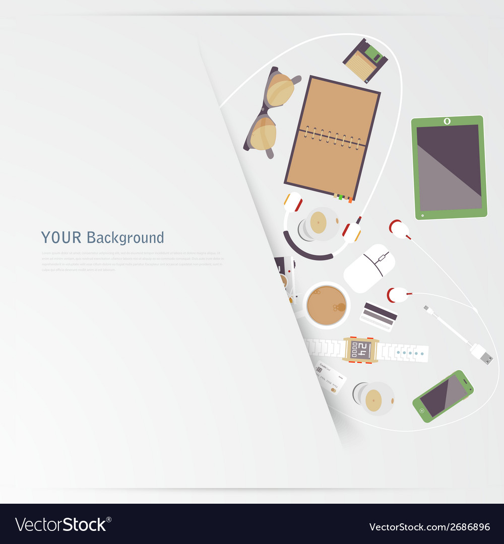 Im fond of gadgets set flat business vector   Price: 1 Credit (USD $1)