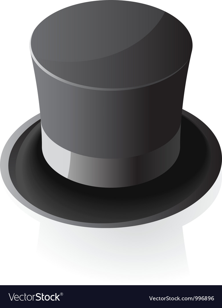 Isometric icon of top hat vector | Price: 1 Credit (USD $1)