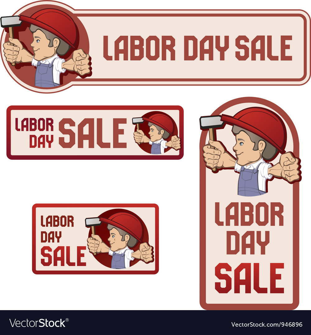 Labor day sale banner vector | Price: 3 Credit (USD $3)