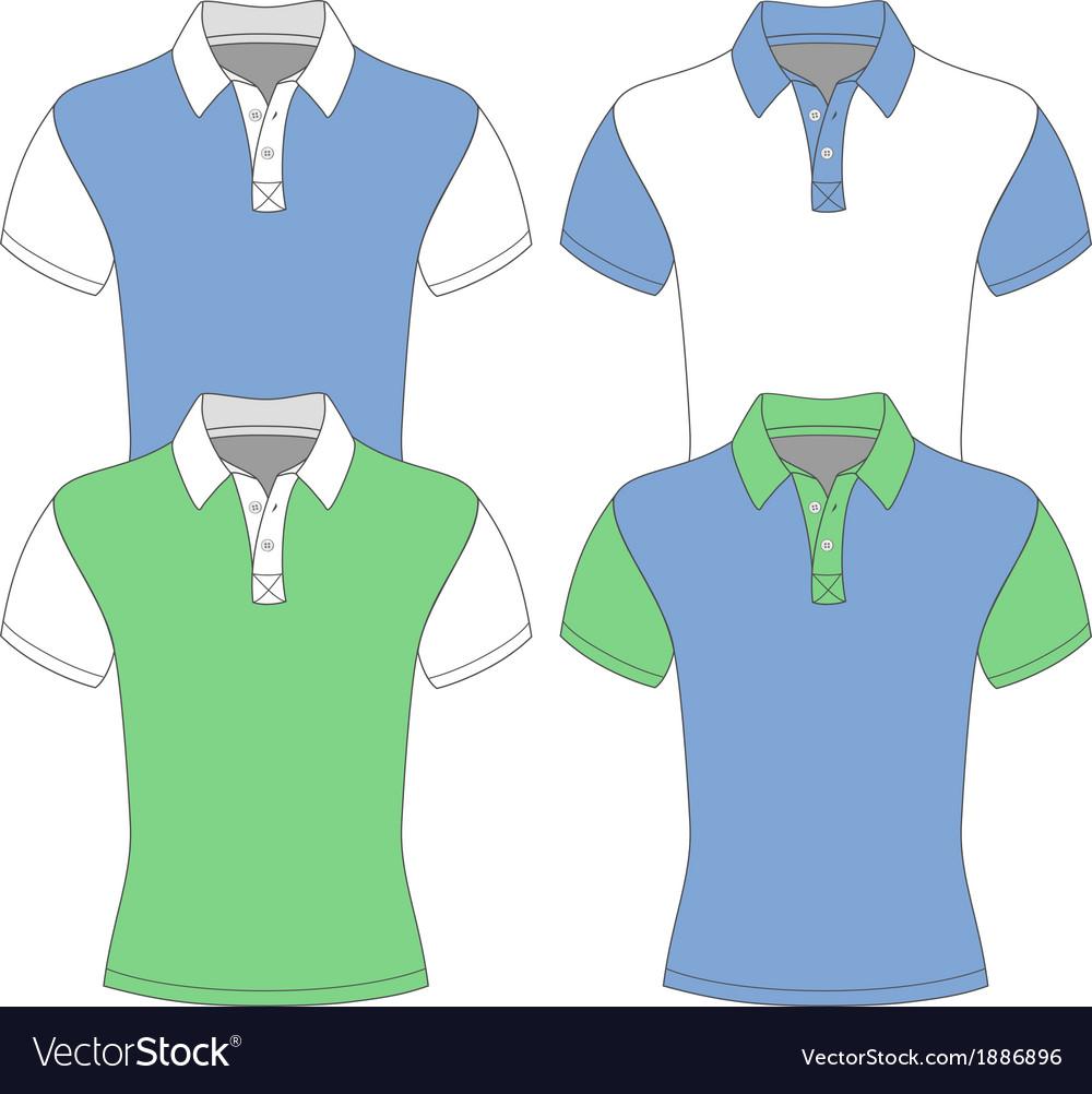 Mens short sleeve polo shirt vector | Price: 1 Credit (USD $1)