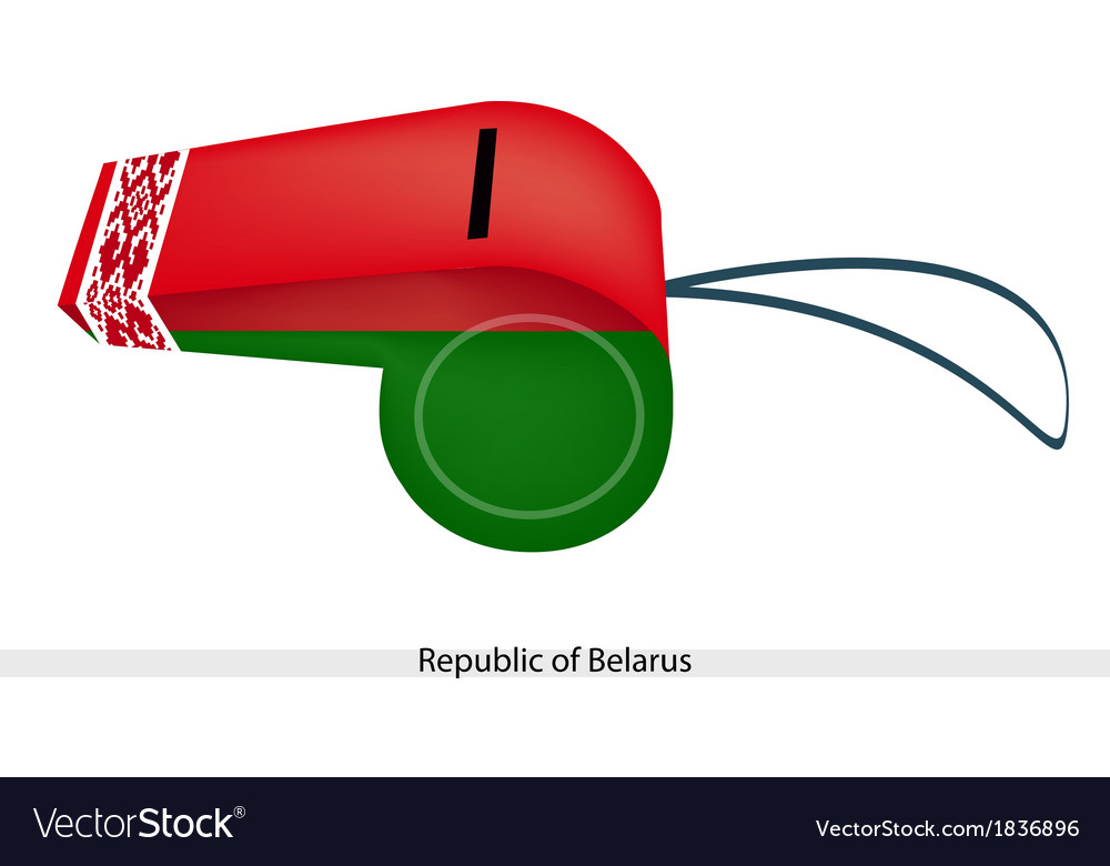 Red and green stripe on belarus whistle vector | Price: 1 Credit (USD $1)