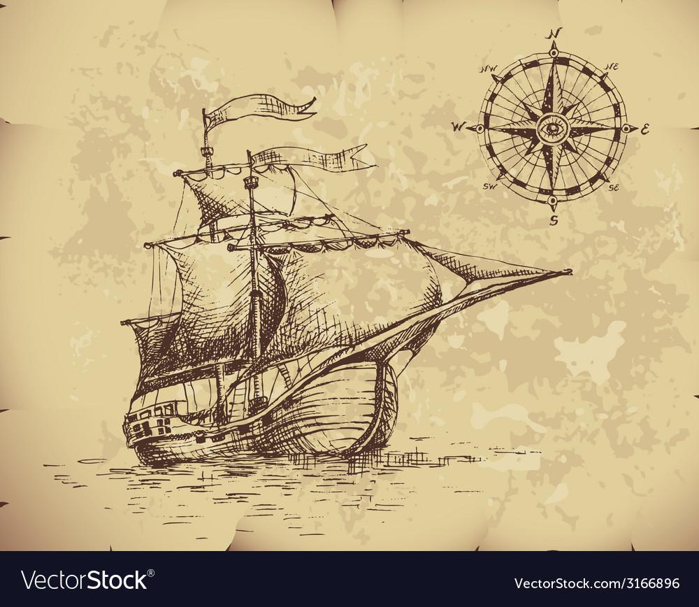 Sailboat vector | Price: 1 Credit (USD $1)