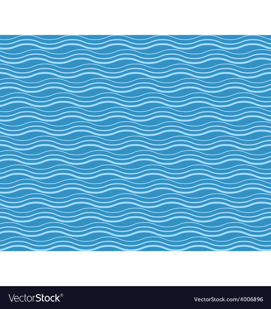 Seamless sea pattern blue and light blue waves vector | Price: 1 Credit (USD $1)