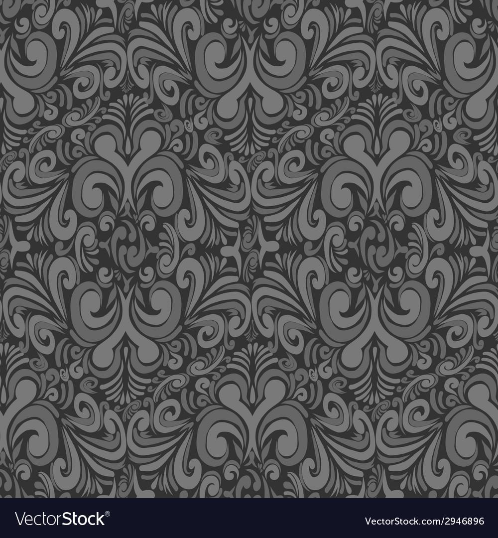 Seamless vintage dark gray background vector | Price: 1 Credit (USD $1)