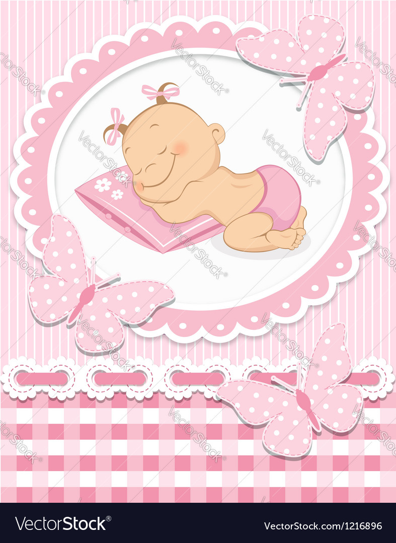 Sleeping baby girl vector | Price: 1 Credit (USD $1)