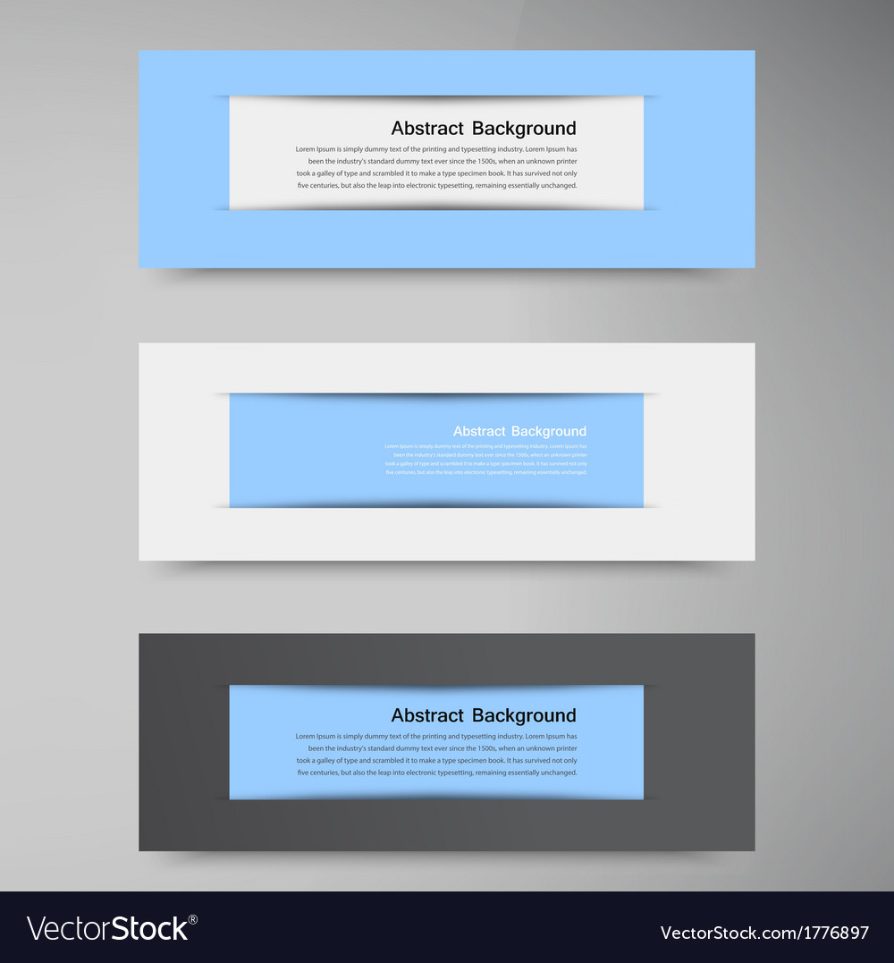 Abstract background banner blue and label vector | Price: 1 Credit (USD $1)