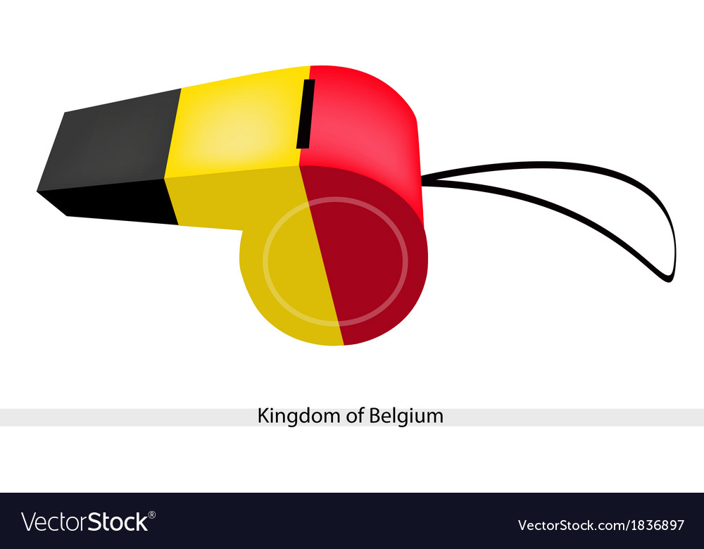 Black yellow and red stripe on belgium whistle vector | Price: 1 Credit (USD $1)