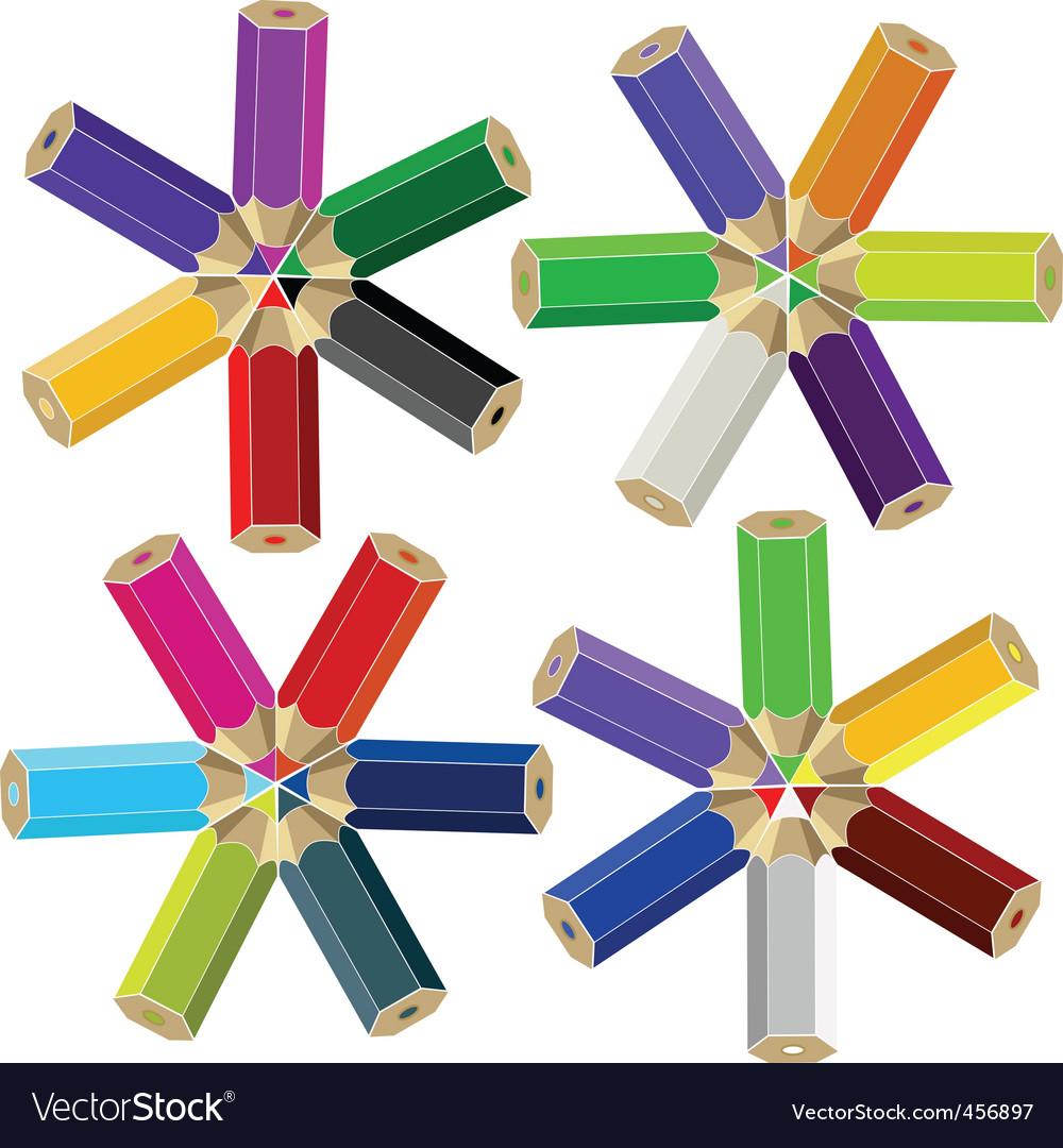 Color crayons vector | Price: 1 Credit (USD $1)