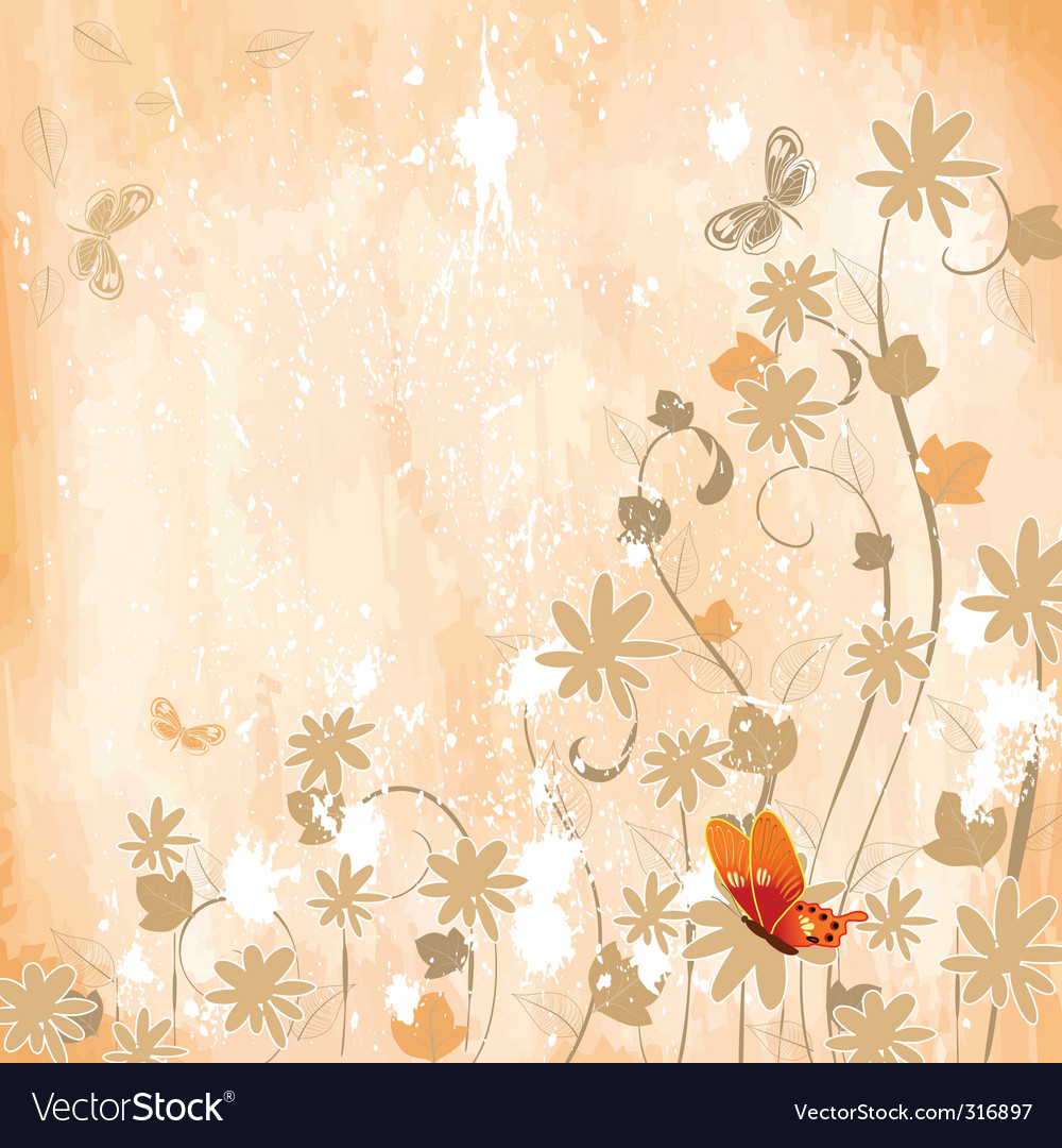Flower corner vector | Price: 1 Credit (USD $1)