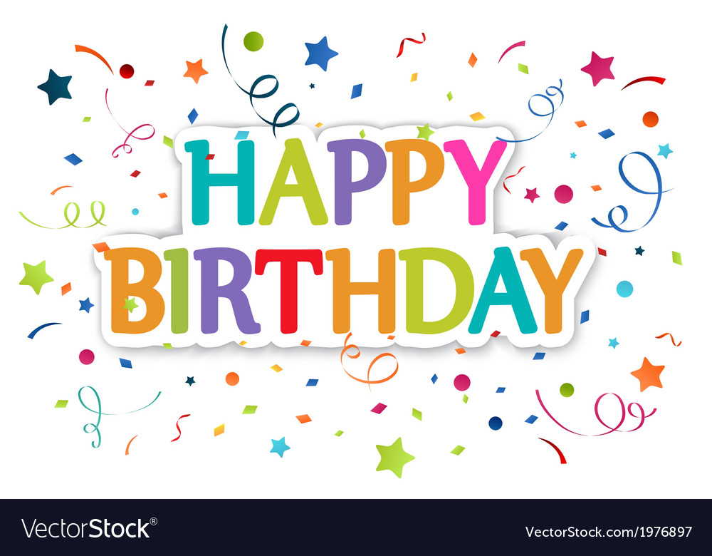 Happy birthday greetings vector | Price: 1 Credit (USD $1)