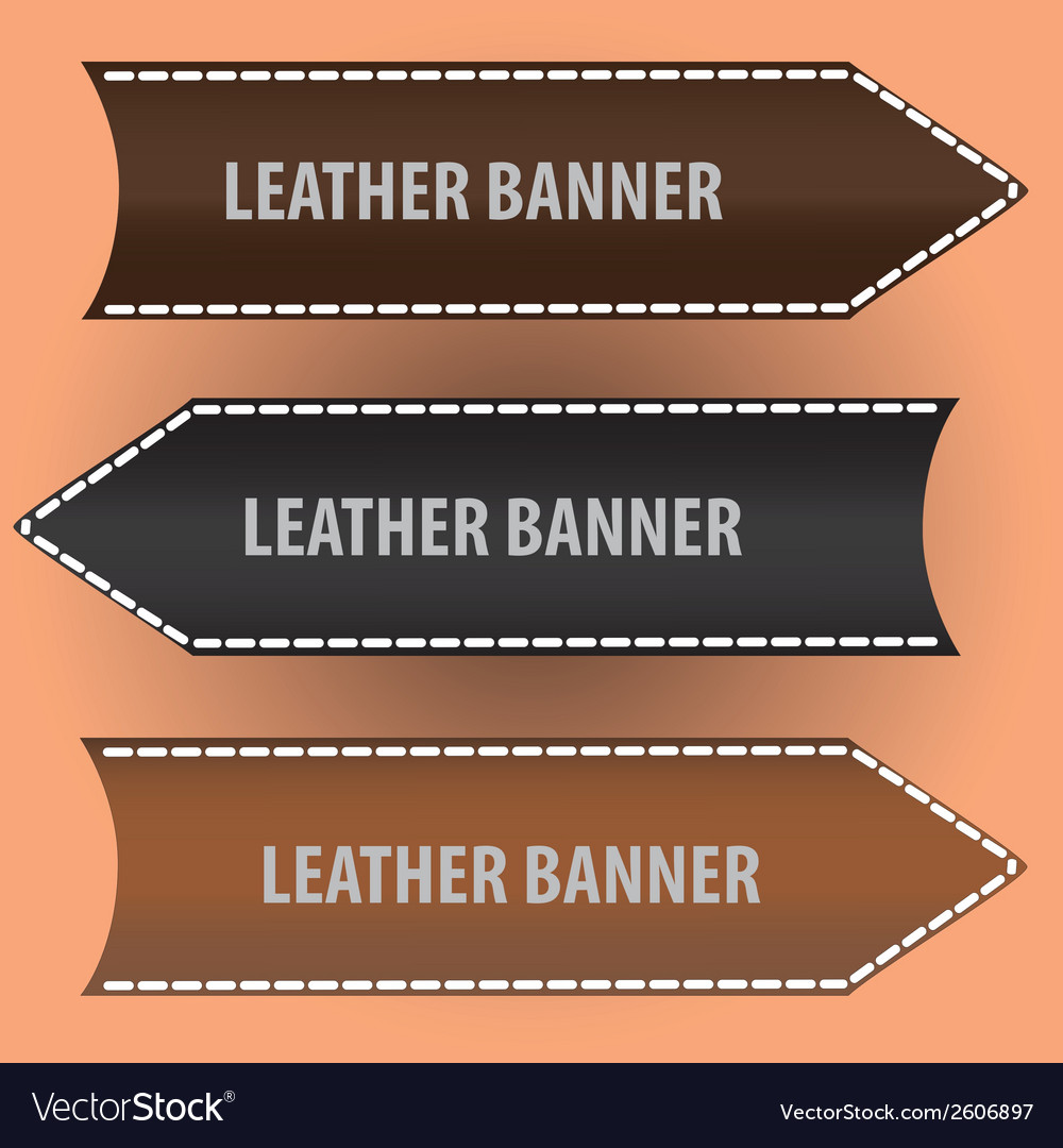 Leather banners eps10 vector | Price: 1 Credit (USD $1)