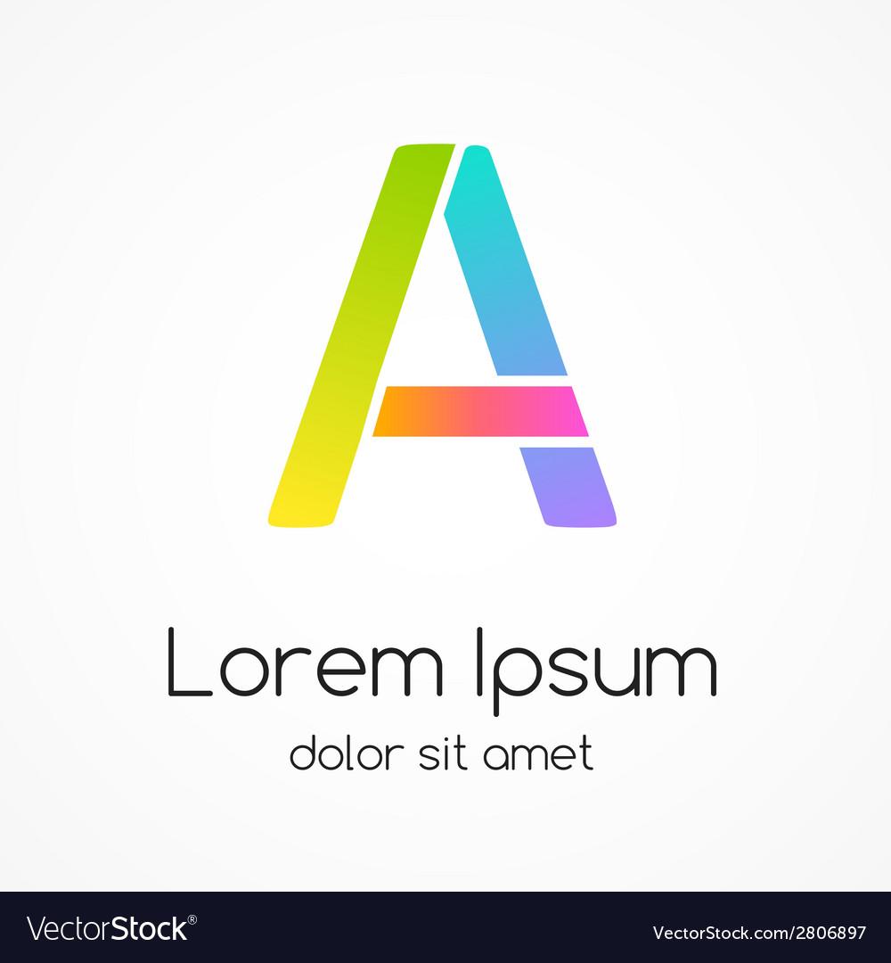 Logo letter a company design template vector | Price: 1 Credit (USD $1)