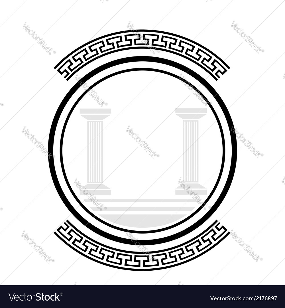 Old columns vector | Price: 1 Credit (USD $1)