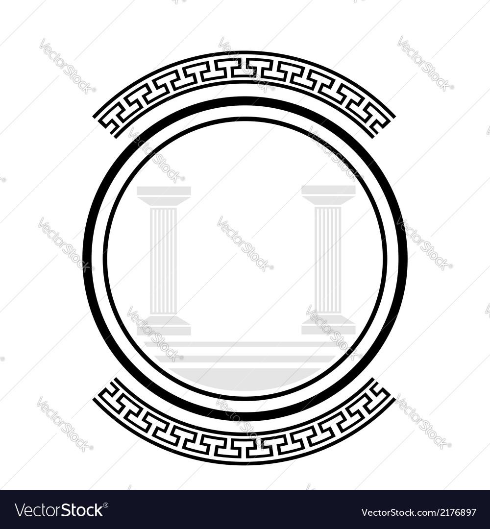 Old columns vector | Price: 1 Credit (USD $1)