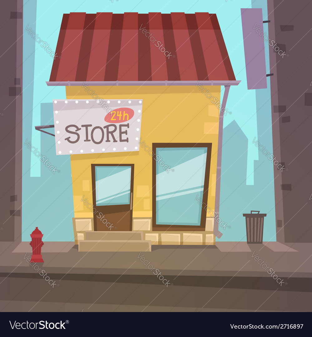 Retro store vector | Price: 1 Credit (USD $1)