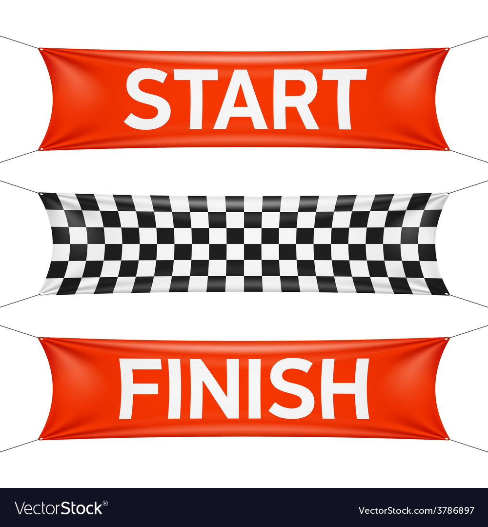 Starting and finishing lines banners vector | Price: 1 Credit (USD $1)
