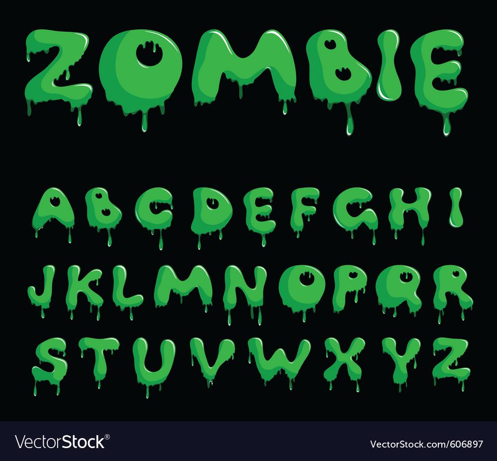 Zombie alphabet vector