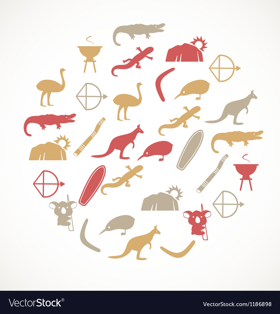 Australian icons vector | Price: 1 Credit (USD $1)