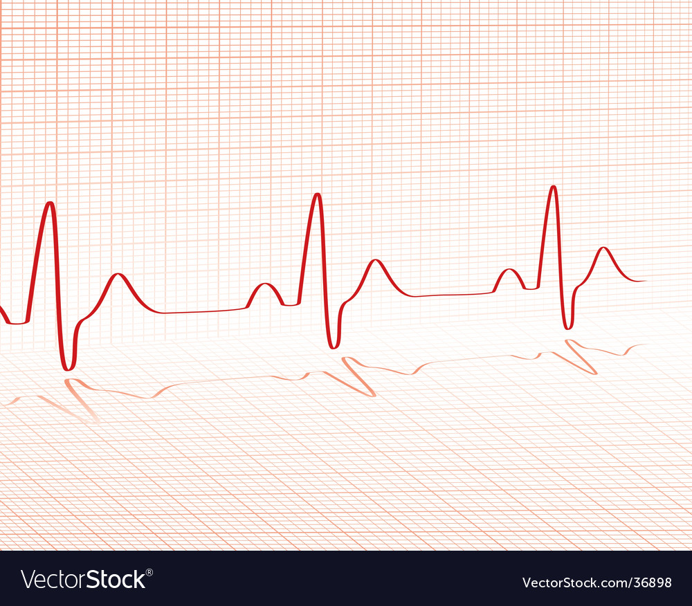 Heart beat grid vector | Price: 1 Credit (USD $1)