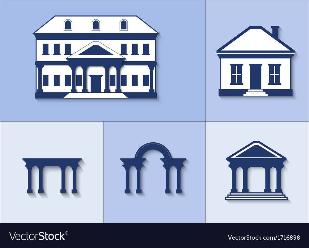 Icon set - houses vector | Price: 1 Credit (USD $1)