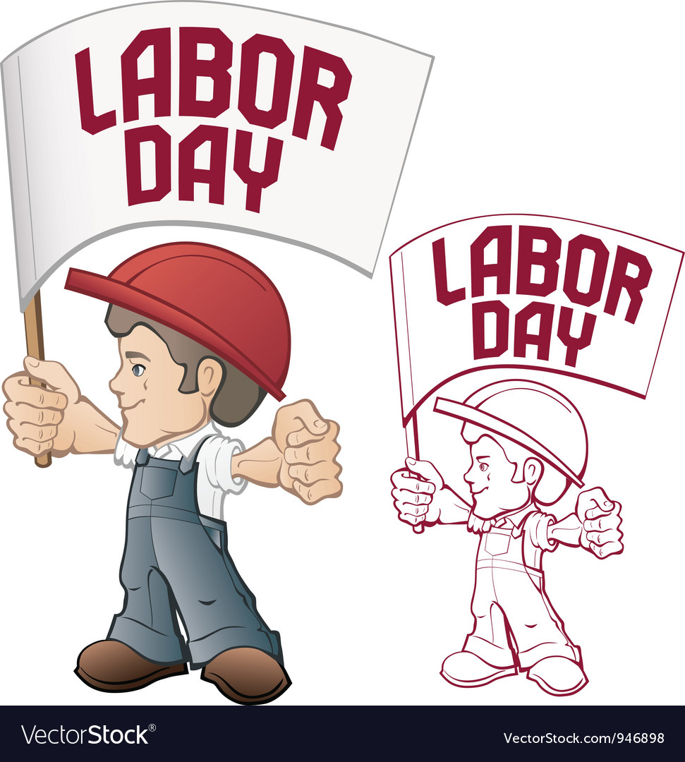 Labor day cartoon worker vector | Price: 3 Credit (USD $3)