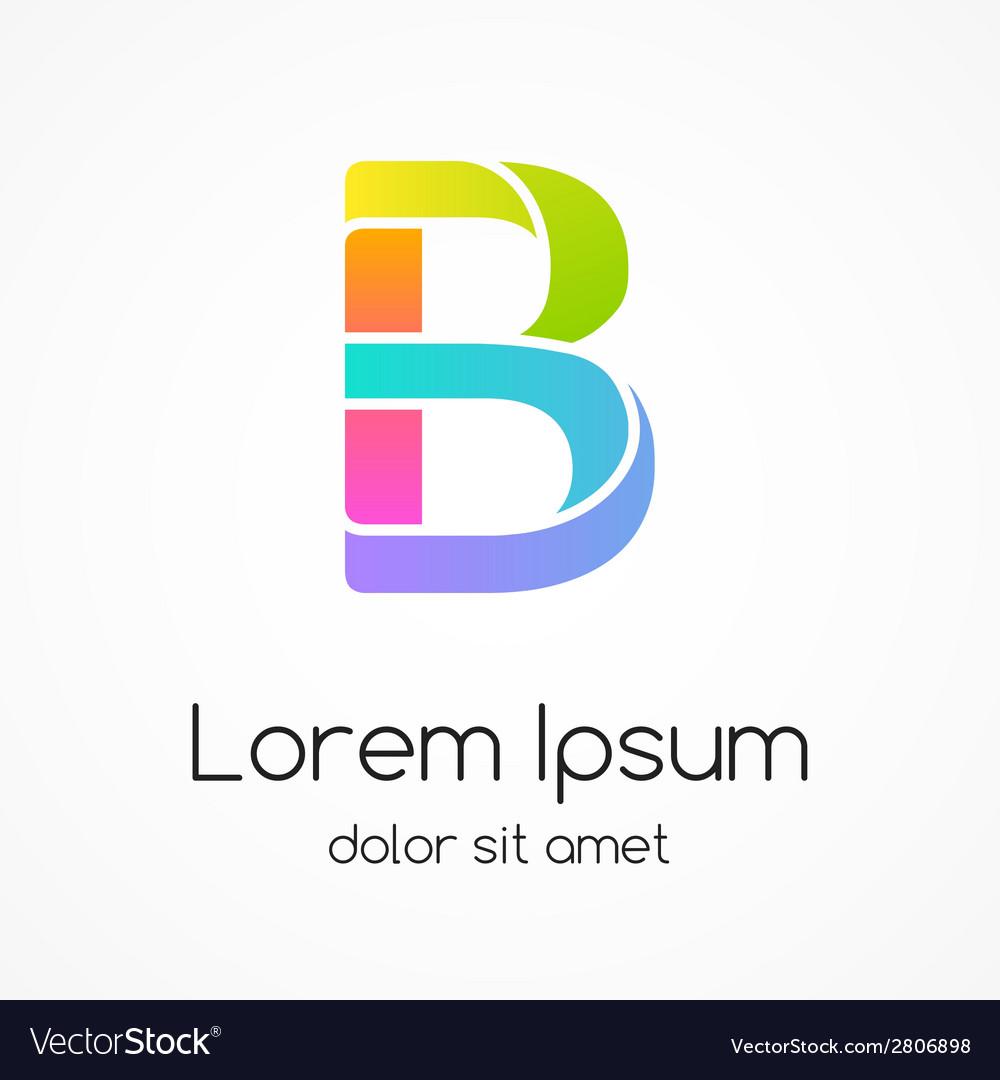 Logo letter b company design template vector | Price: 1 Credit (USD $1)