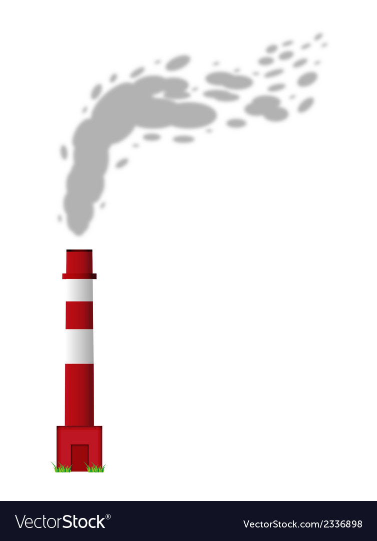 Smoking chimney vector | Price: 1 Credit (USD $1)