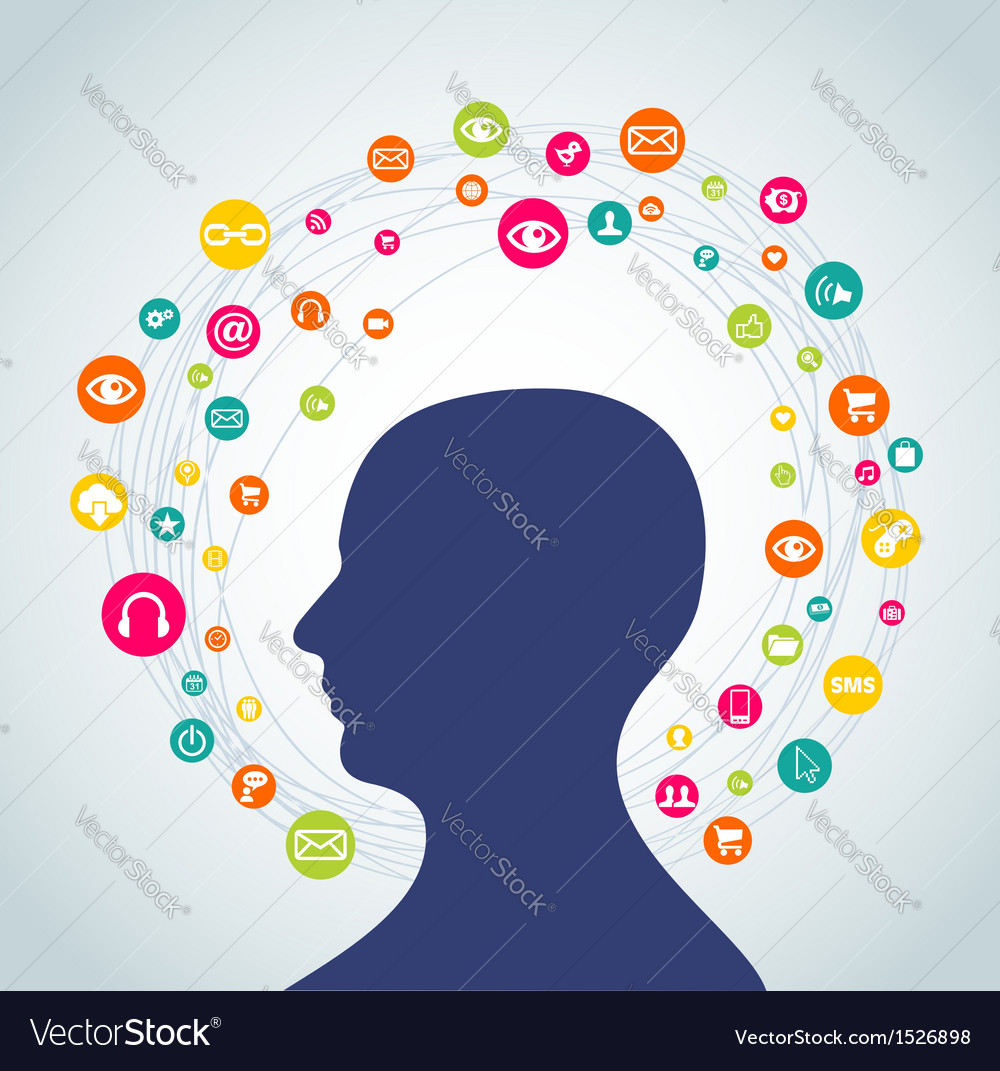 Social media concept man vector | Price: 1 Credit (USD $1)