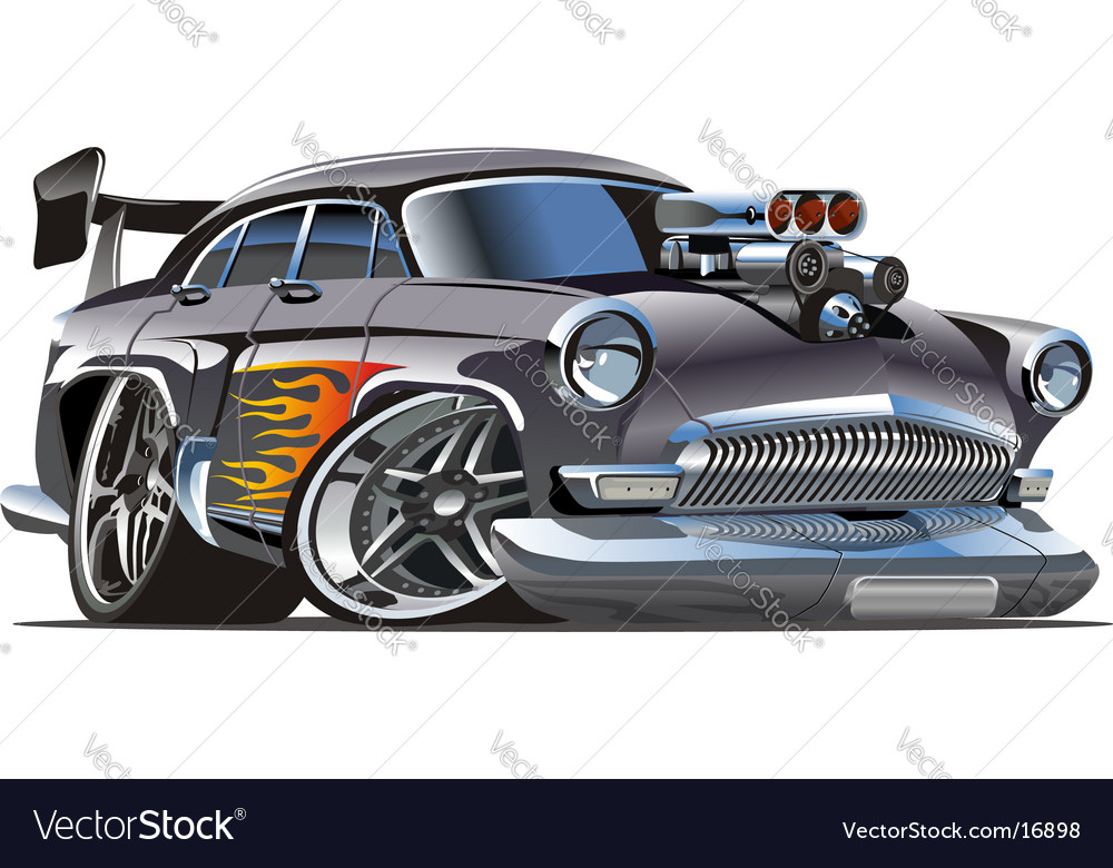 Soviet hot rod car vector | Price: 5 Credit (USD $5)