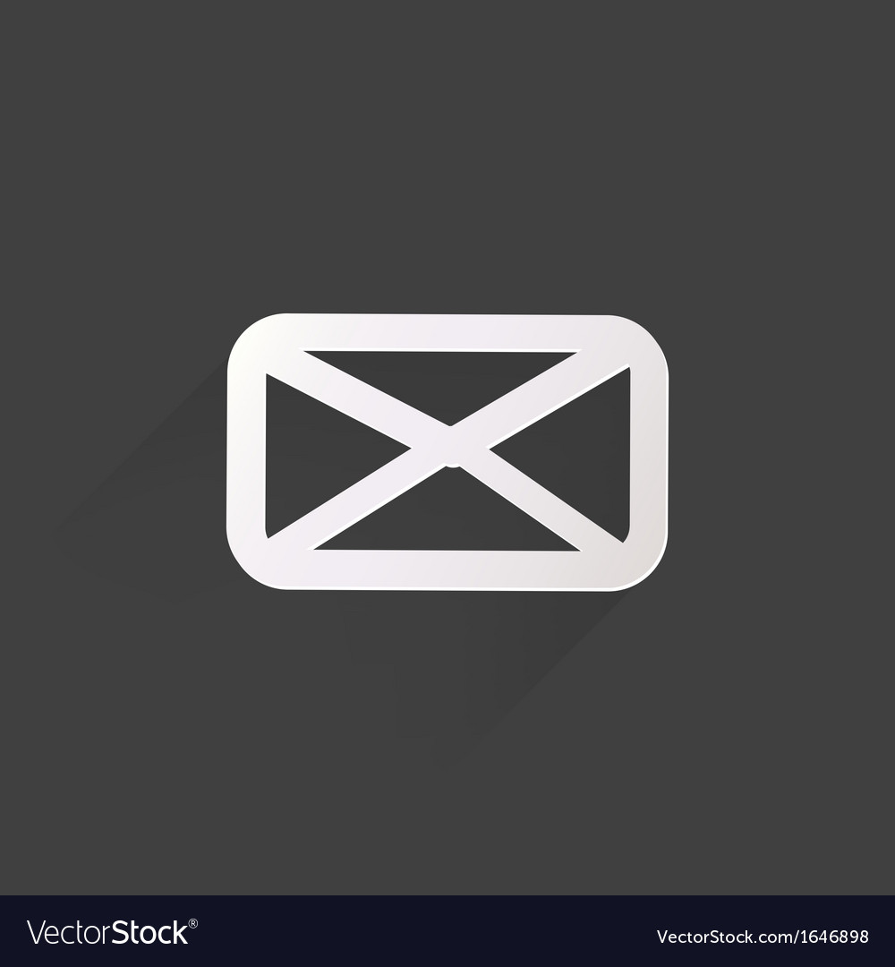 Web letter iconflat design vector | Price: 1 Credit (USD $1)