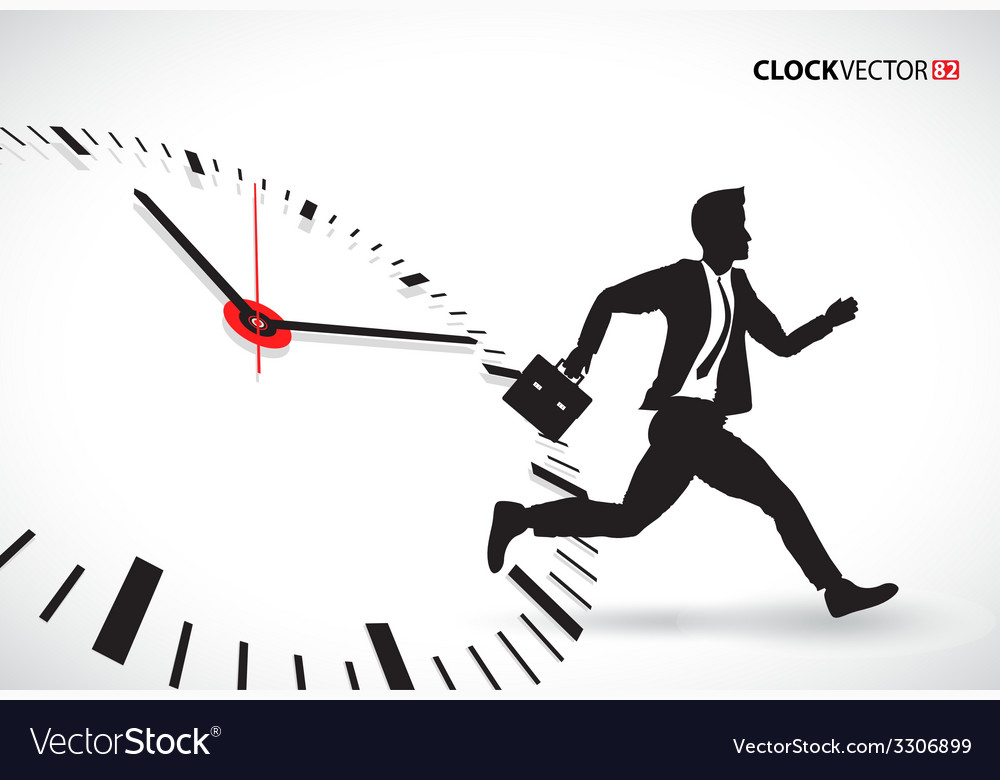 Business man beating the clock vector | Price: 1 Credit (USD $1)