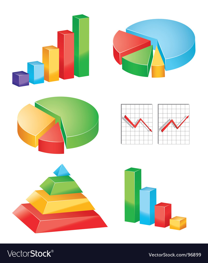 Charts vector | Price: 1 Credit (USD $1)