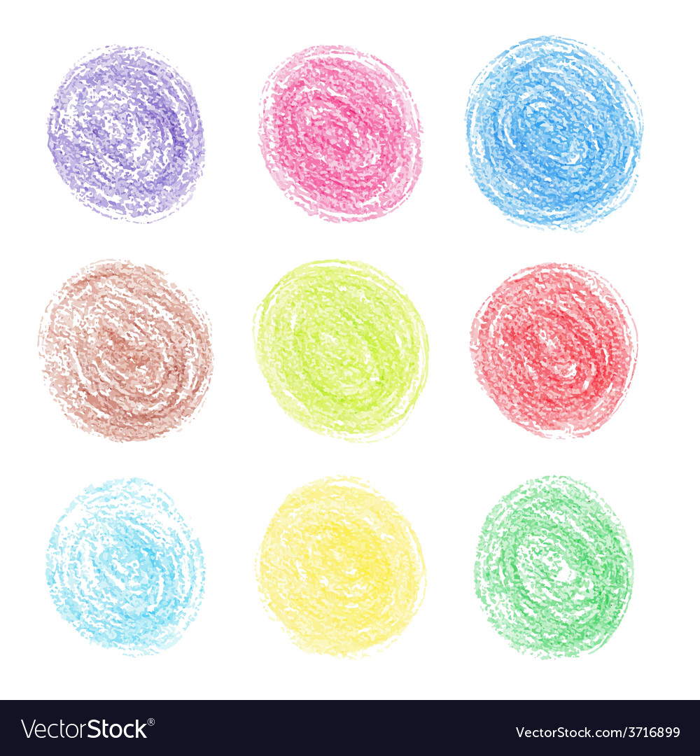 Color pencil round spots vector | Price: 1 Credit (USD $1)