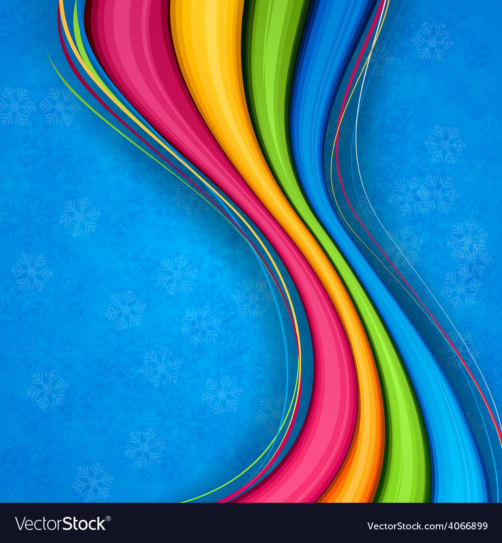 Colorful wavy christmas background vector | Price: 1 Credit (USD $1)