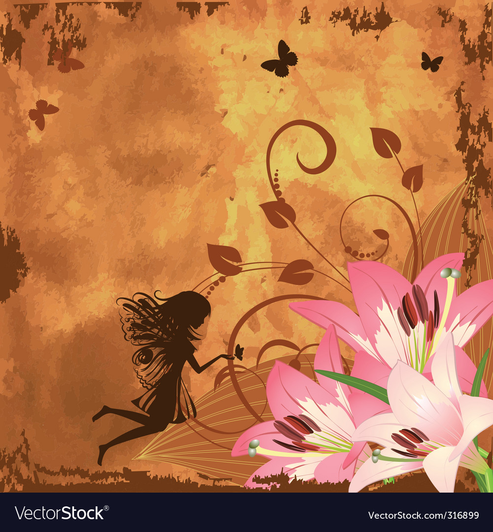 Flower fantasy fairy vector | Price: 1 Credit (USD $1)