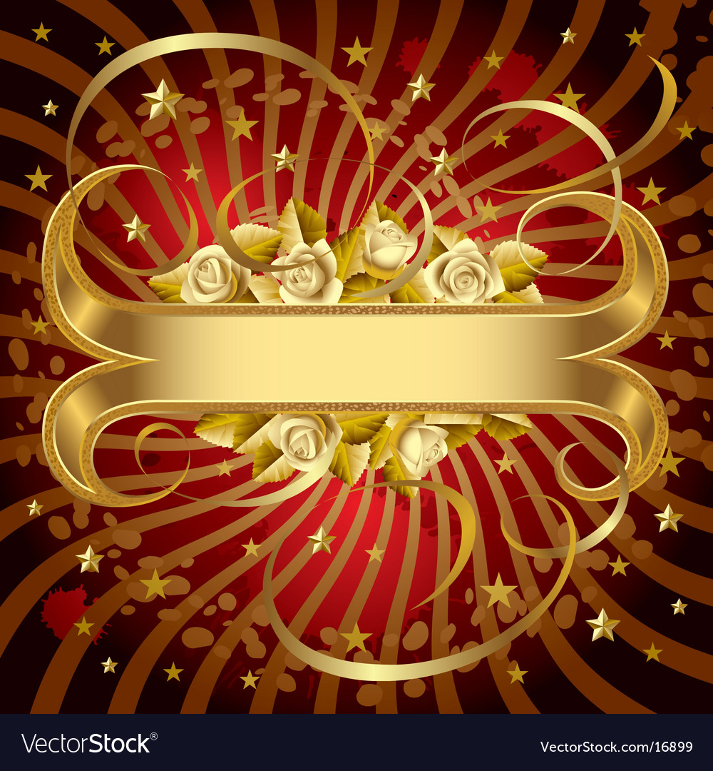 Gold banner vector | Price: 3 Credit (USD $3)