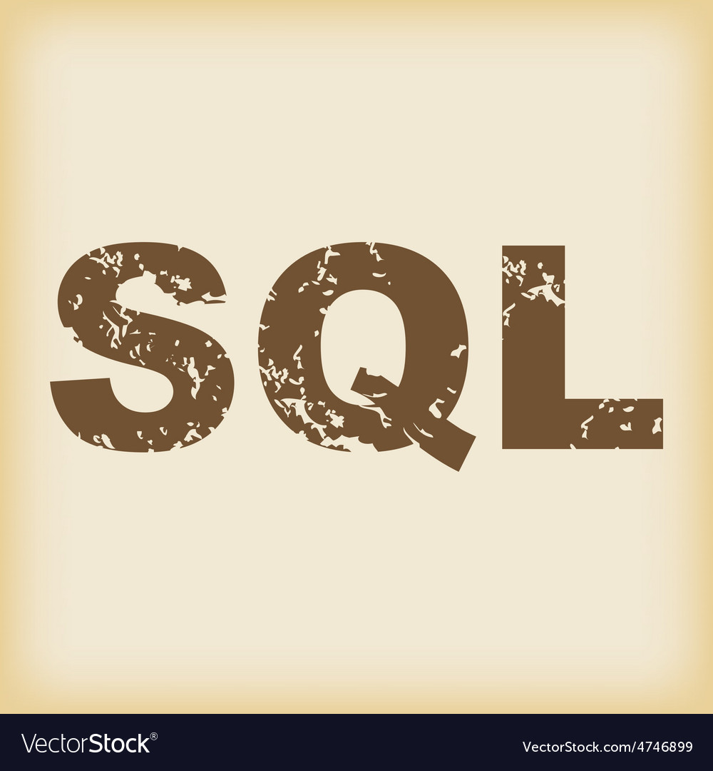 Grungy sql icon vector | Price: 1 Credit (USD $1)