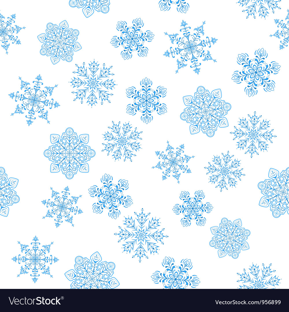 Snowflakes figured seamless vector | Price: 1 Credit (USD $1)