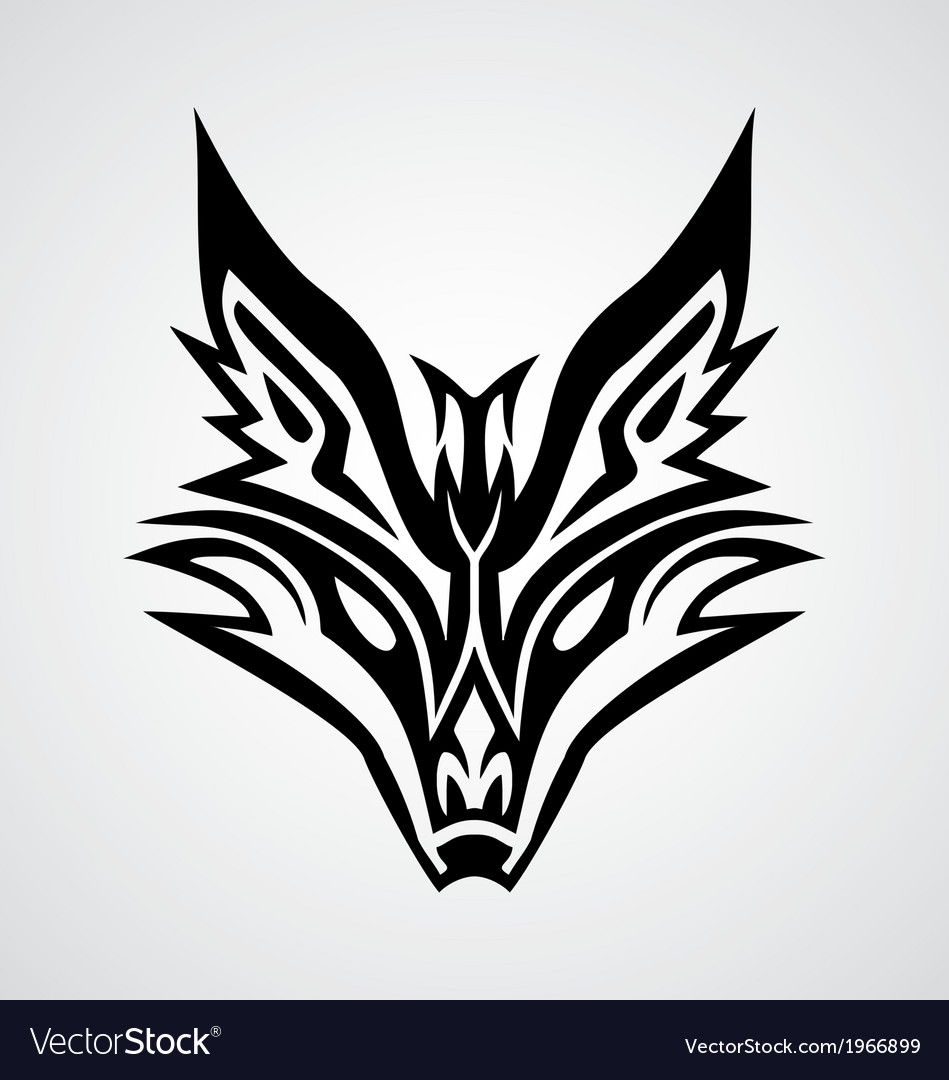 Tribal fox face vector | Price: 1 Credit (USD $1)
