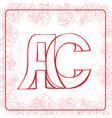Ac monogram vector