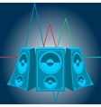 Music speakers vector