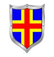 Aland islands flag button vector