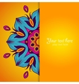 Template of greeting card with flower vector