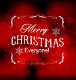 Merry christmas light background vector