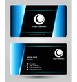 Blue black business card vector
