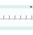 Normal electrocardiogram ecg eps 8 vector