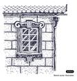 Beautiful window brick wall vector