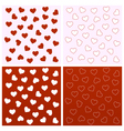 Valentine seamless backgrounds vector